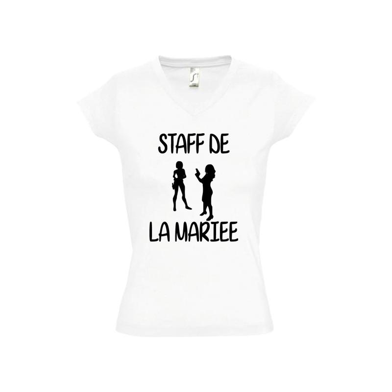 Tee shirt evjf Staff de la mariée - Enterrement vie de jeune fille