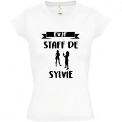Tee shirt evjf Staff de la mariée personnalisé - Enterrement vie de jeune fille