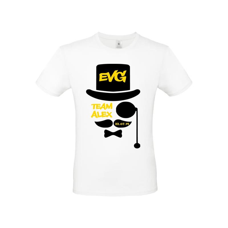 Tee shirt evg - team du marié personnalisé - enterrement vie de garçon