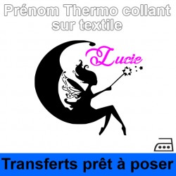 Stickers textile Sticker fée Prénom fille personnalisé thermocollant