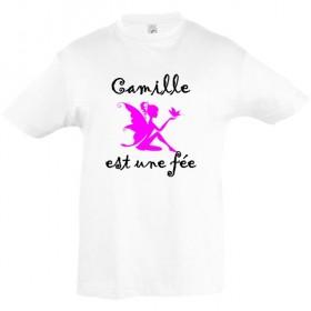 Tee shirt fée prénom...