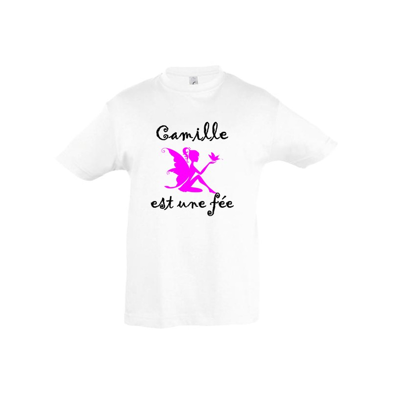 Tee shirt fée prénom personnalisé ref 3