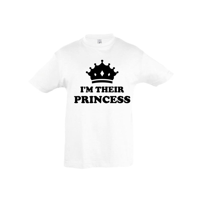 T shirt enfant personnalisé fille I am their princess