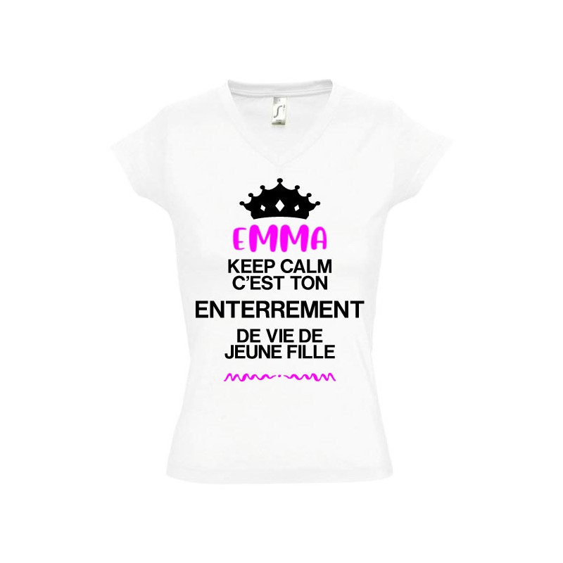 Tee shirt evjf - enterrement vie de jeune fille keep calm
