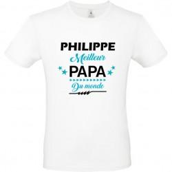 Tee shirt Meilleur Papa du monde personnalisable