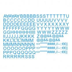 Lettres alphabet thermocollantes sur textile set de lettres hauteur 3 cm police arial