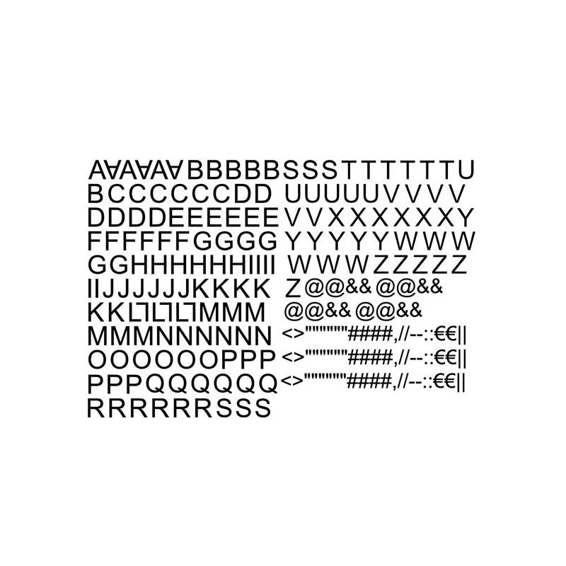 Lettres alphabet thermocollantes sur textile set de lettres hauteur 5 cm police arial