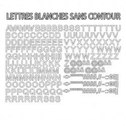 Lettres alphabet thermocollantes sur textile set de lettres hauteur 2 cm police arial