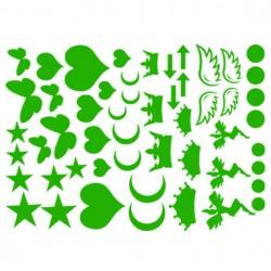 Sticker de formes thermocollant sur textile