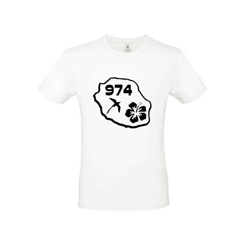 Tee shirt design Réunion département 974