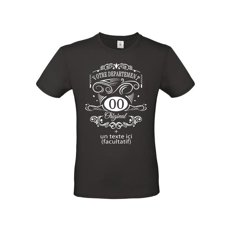 Tee shirt vintage Département + texte à personnaliser