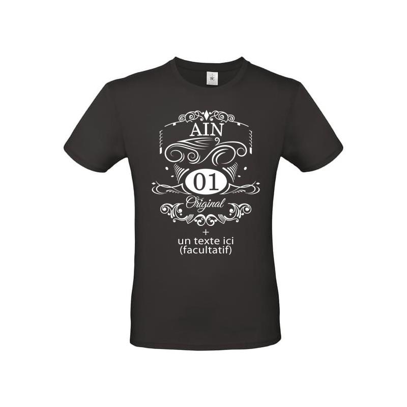 Tee shirt vintage Département de l'Ain 01