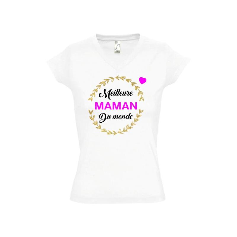 Tee shirt Couronne Meilleure maman du monde