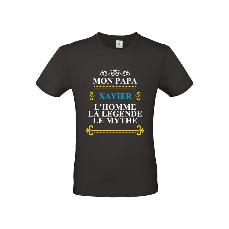Tee shirt mon Papa l'homme, le mythe, la légende prénom à personnaliser