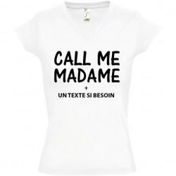 Tee shirt Call Me Madame personnalisé