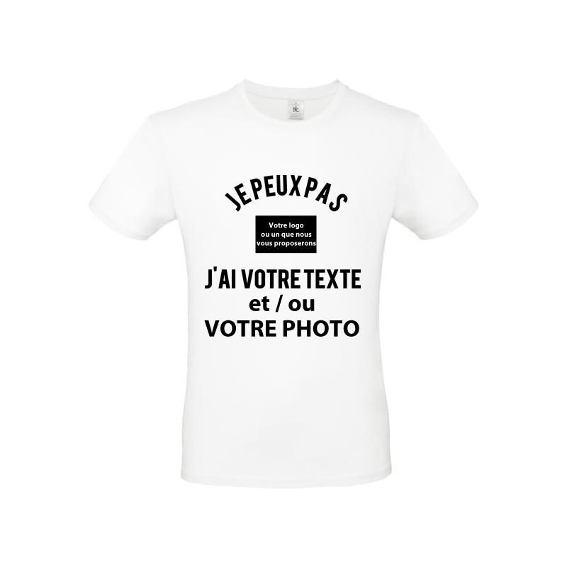 Tee shirt je peux pas j'ai... à personnaliser avec votre texte et ou photo