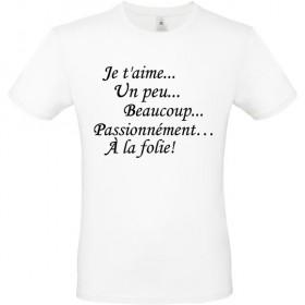 T shirt personnalisé...