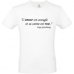 T shirt personnalisé Citation l'amour est aveugle...