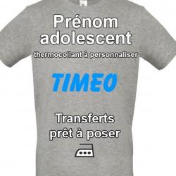 Sticker Prénom adolescent personnalisé thermocollant sur textile