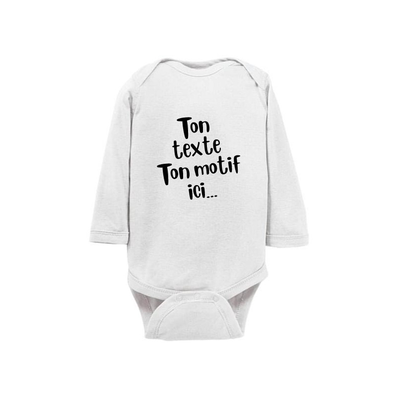 Body bébé personnalisé blanc manches longues