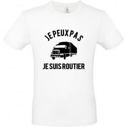 T shirt je peux pas je suis routier