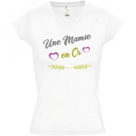 T shirt Mamie en or...