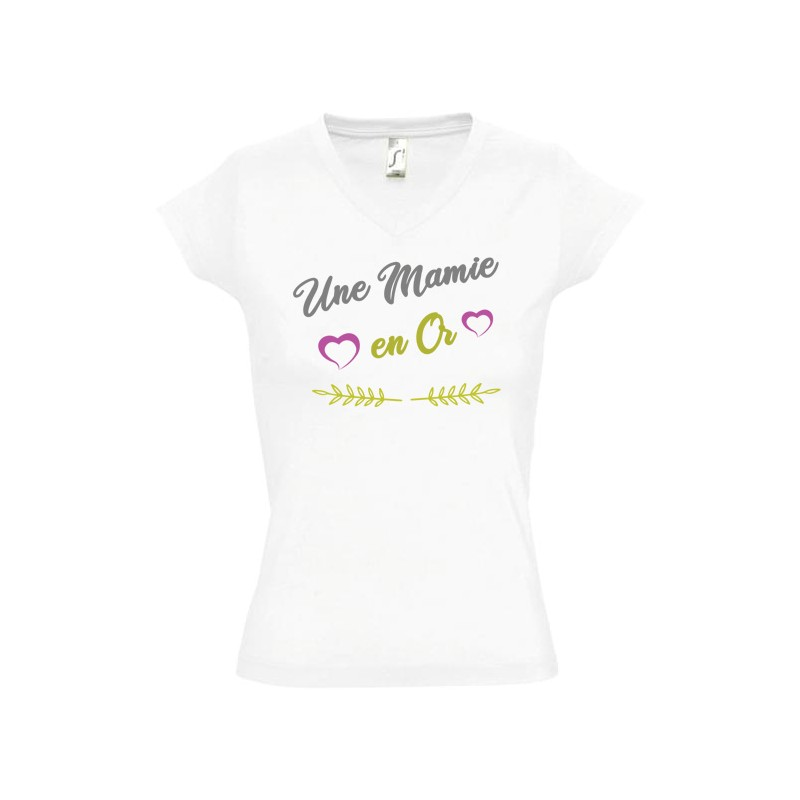 T shirt Mamie en or personnalisé