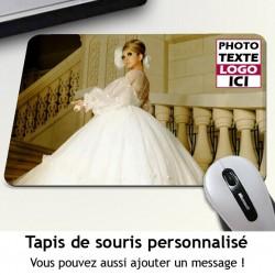 Tapis de souris à personnaliser avec votre photo et message