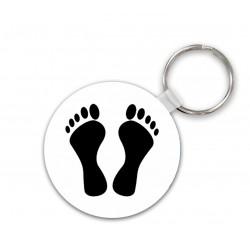 Porte clés pied noir en bois rond double face sublimable