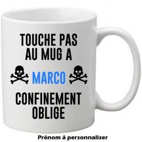 Mug blanc Touche pas au mug...