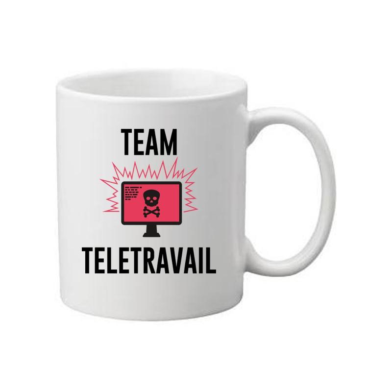 Mug blanc Team Télétravail