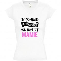 T shirt Mamie je connais une super héros