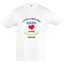 T shirt enfant Tu es le meilleur papa bonne fête des pères