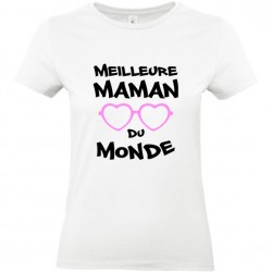 T shirt Maman Meilleure maman du monde