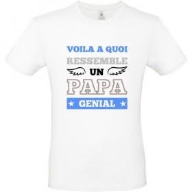 T shirt Papa Voila à quoi ressemble un papa génial