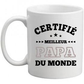 Mug Blanc Certifié meilleur papa du monde