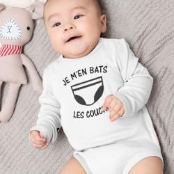Body bébé personnalisé Je m'en bats les couches