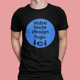 T shirt personnalisé noir