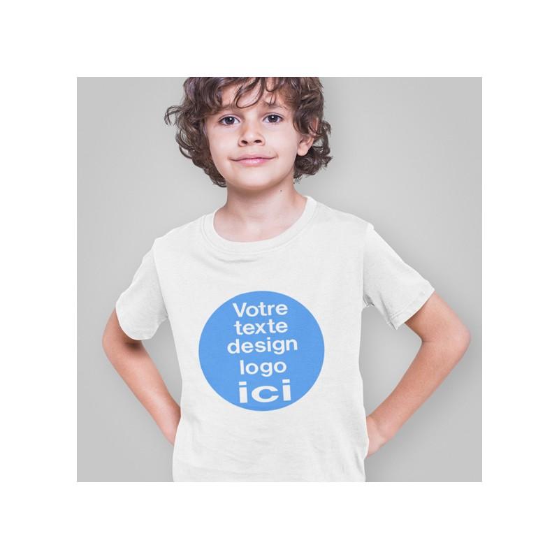 T shirt personnalisé enfant blanc