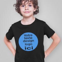 T shirt personnalisé enfant noir