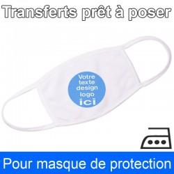 Transfert prêt à poser pour masque de protection