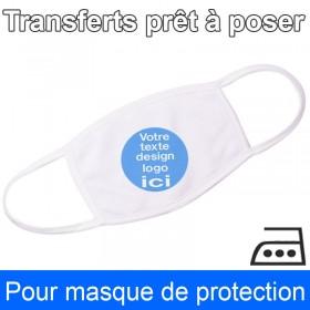 Transfert prêt à poser pour masque en tissu