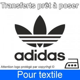 Transfert Logo marque Adidas prêt à poser