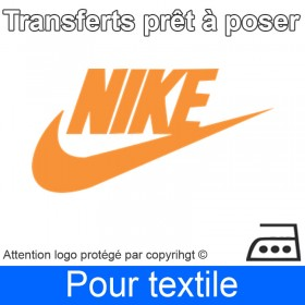 Transfert Logo marque Nike prêt à poser