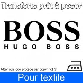 Transfert Logo marque Hugo Boss prêt à poser