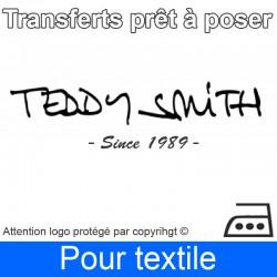 Transfert Logo marque Teddy Smith prêt à poser
