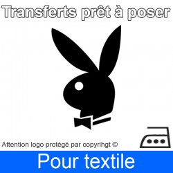 Transfert Logo marque Playboy prêt à poser
