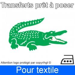 Transfert Logo marque Lacoste prêt à poser