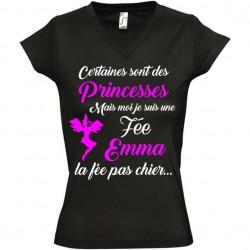 Tee shirt princesse fée personnalisable