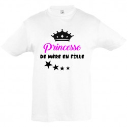 Tee shirt enfant princesse...